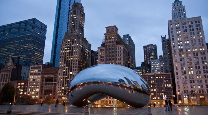 Công trình Cloud Gate tại thành phố Chicago, bang Illinois, Mỹ